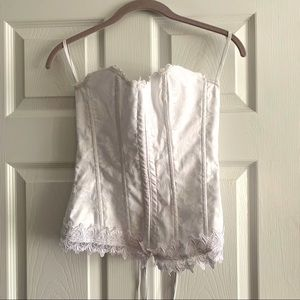 Frederick's of Hollywood White Corset Bustier